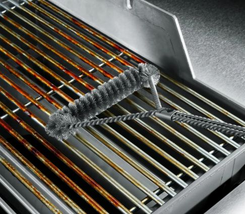 """18/"""" BBQ Grill Brush Cleaning Easy Fast Safe Metal Barbecue Brush Durable GW"""
