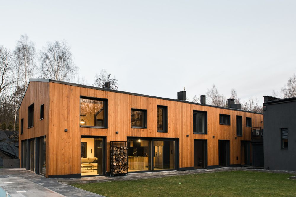 The extended barn is now a modern family home with a rich story behind it