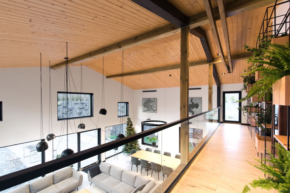 Although this has grown into a complex project, the house still has a simple and barn-like shape