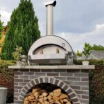 Alfa 4 Pizze 31-Inch Outdoor Countertop Wood-Fired Pizza Oven