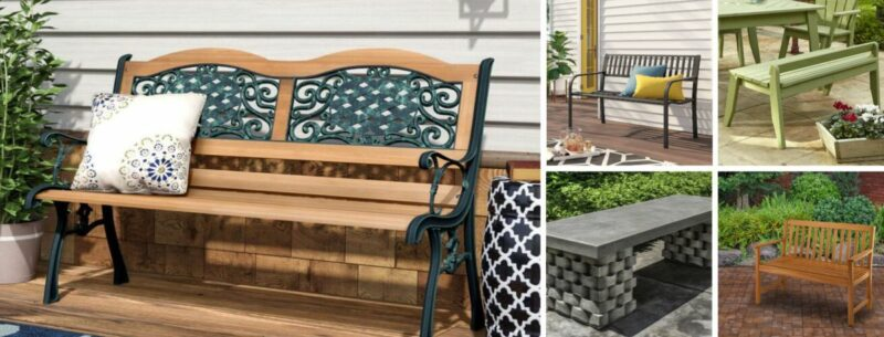 20 Outdoor Benches For Gorgeous Patios, Gardens and Picnic Areas