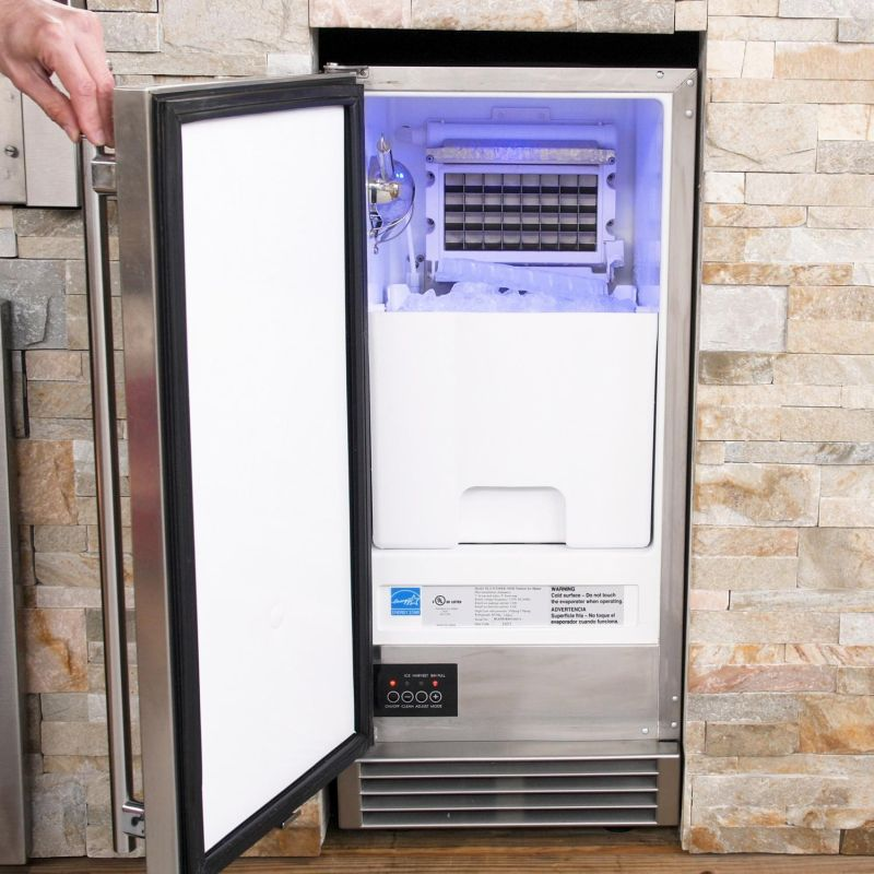 Blaze 50 Lb. 15-Inch Outdoor Rated Ice Maker With Gravity Drain