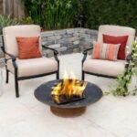 Carondelet 3 Piece Cast Aluminum Patio Fire Pit Conversation Set