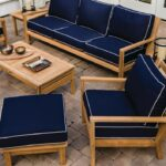 Coastal 7 Piece Teak Patio Conversation Set