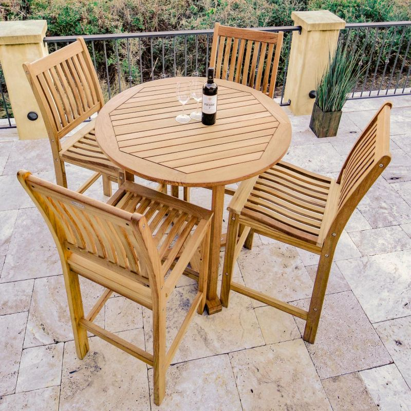 Set Up For A Fun Summer End Season With Outdoor High Top Table And Chairs