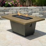 American Fyre Designs Cosmopolitan 54-Inch French Barrel Oak Propane Gas Rectangular Firetable