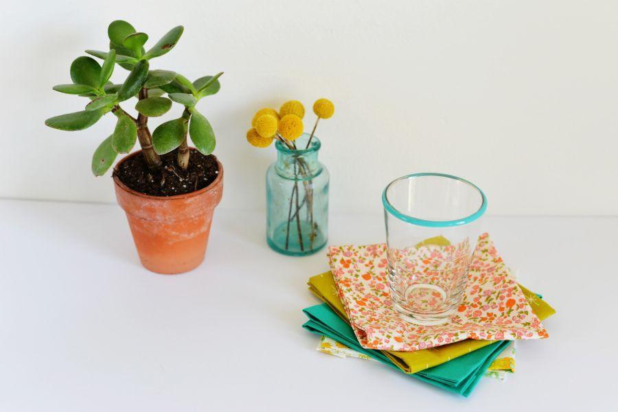 DIY No-Sew Fabric Napkins