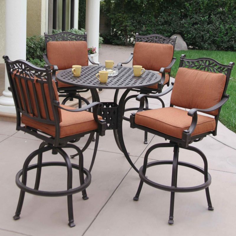 Outdoor High Top Table And Chairs, High Chair Patio Furniture