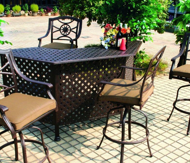 Outdoor Bar Set, Aluminum Patio Bar Set