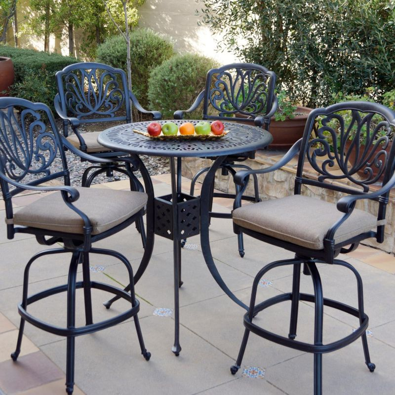 Outdoor High Top Table And Chairs, Patio Furniture Bar Height Chairs
