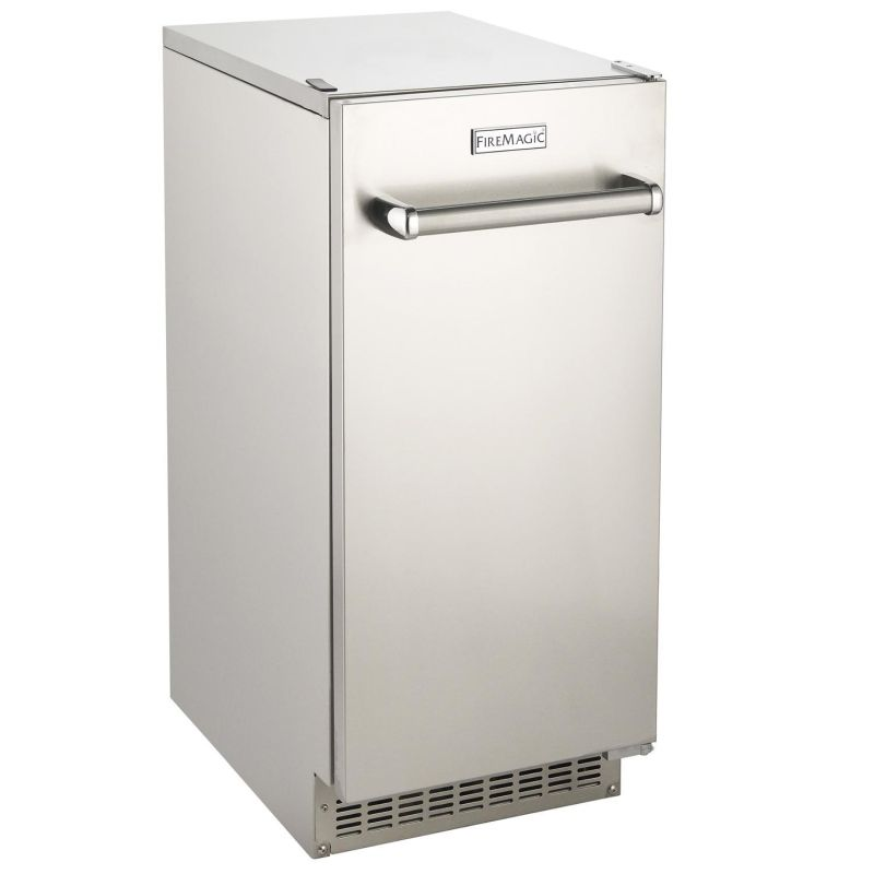 Fire Magic 63 Lb. 15-Inch Outdoor Rated Ice Maker With Gravity Drain
