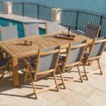 Florida 9 Piece Teak Patio Dining Set