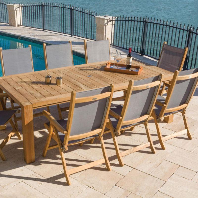Teak Garden Dining Set Off 74, 9 Piece Teak Outdoor Dining Set