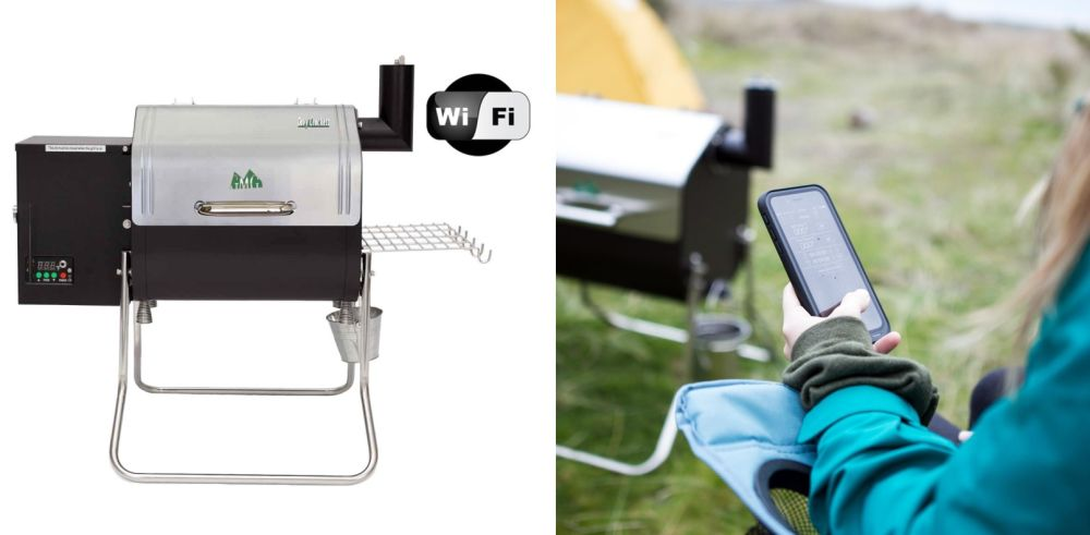 . Green Mountain Grills Davy Crockett WiFi Controlled Portable Wood Pellet Grill