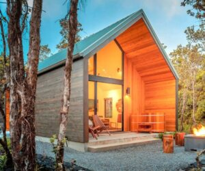 Stylish Forest A Frame Cabin Draws Visitors Near Hawaii's Beautiful Volcanoes