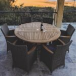 Helena 7 Piece Wicker Patio Dining Set
