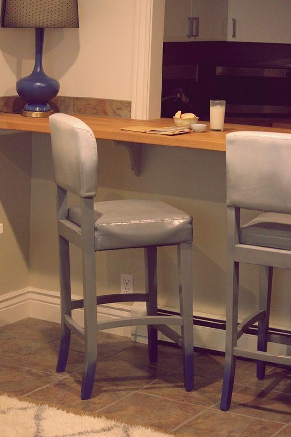 Repainted furniture upholstery