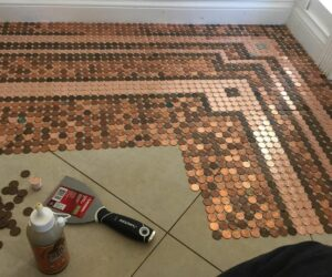 A Floor Covered In Pennies – How It's Done And What It Takes