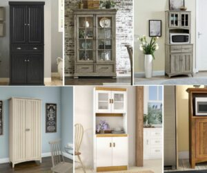 Seriously up Your Storage Space with a Kitchen Hutch or Kitchen Pantry