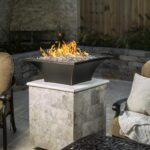 Lakeview Outdoor Designs Lavelle 18-Inch Square High-Rise Natural Gas Column Fire Bowl