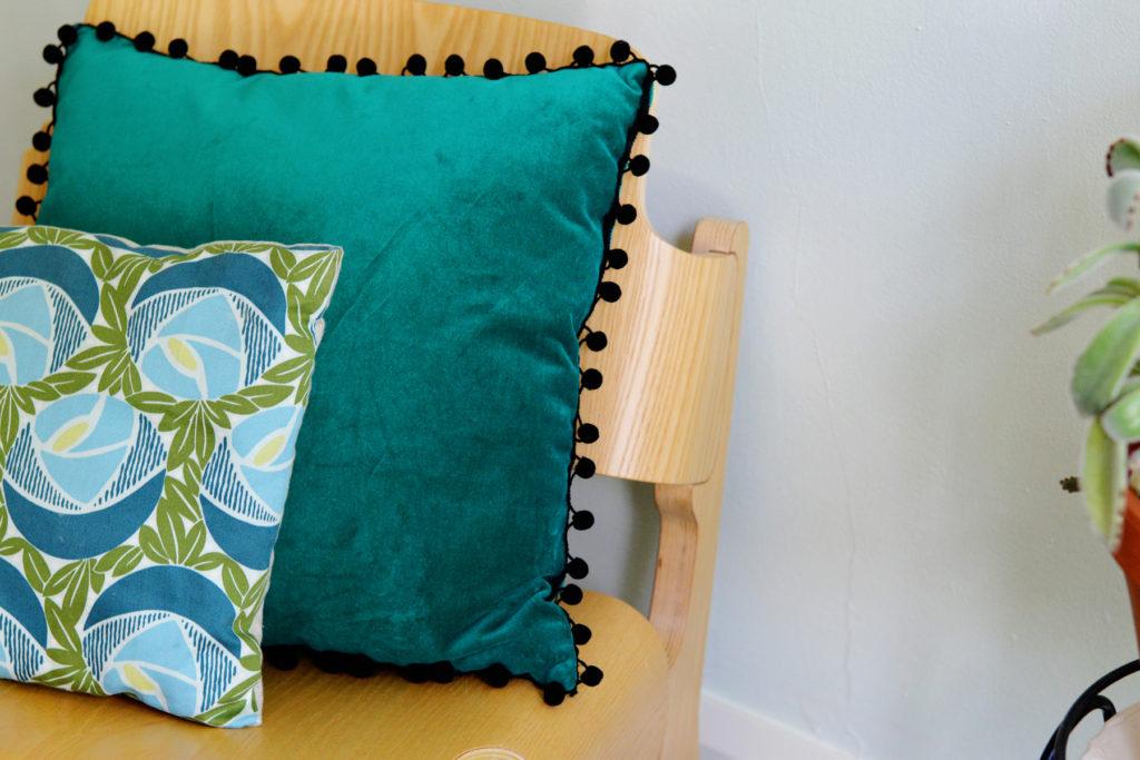 Make a Pom Pom Pillow