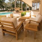 Miami 6 Piece Teak Patio Conversation Set