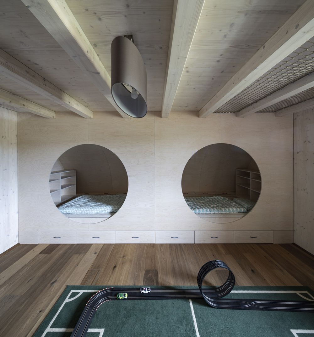 The attic space is surprisingly large and open, with plenty of room for the bedrooms