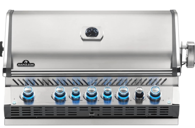 Napoleon Prestige PRO 665 Built-in Natural Gas Grill with Infrared Rear Burner and Rotisserie Kit