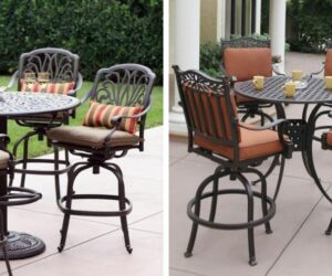 Set up for a Fun Summer Season with Outdoor High Top Table and Chairs