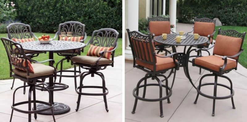 Set up for a Fun Summer-End Season with Outdoor High Top Table and Chairs