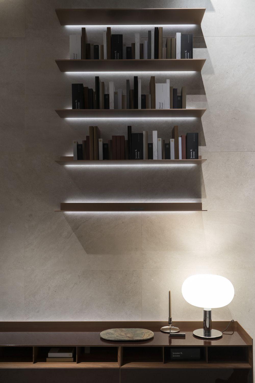 Use Strategic Lighting with Shelves