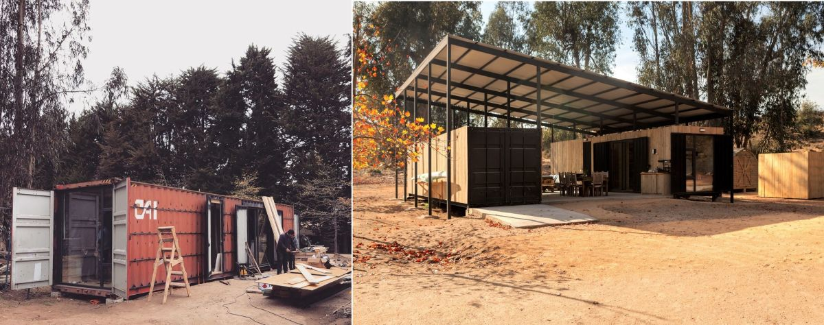 The transformation of the containers was drastic which renders them almost unrecognizable