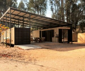 Multipurpose Container House With A Sleek Floating Roof