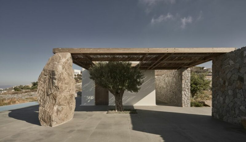 Magnificent Summer House In Greece Built With Stone Dug From The Site