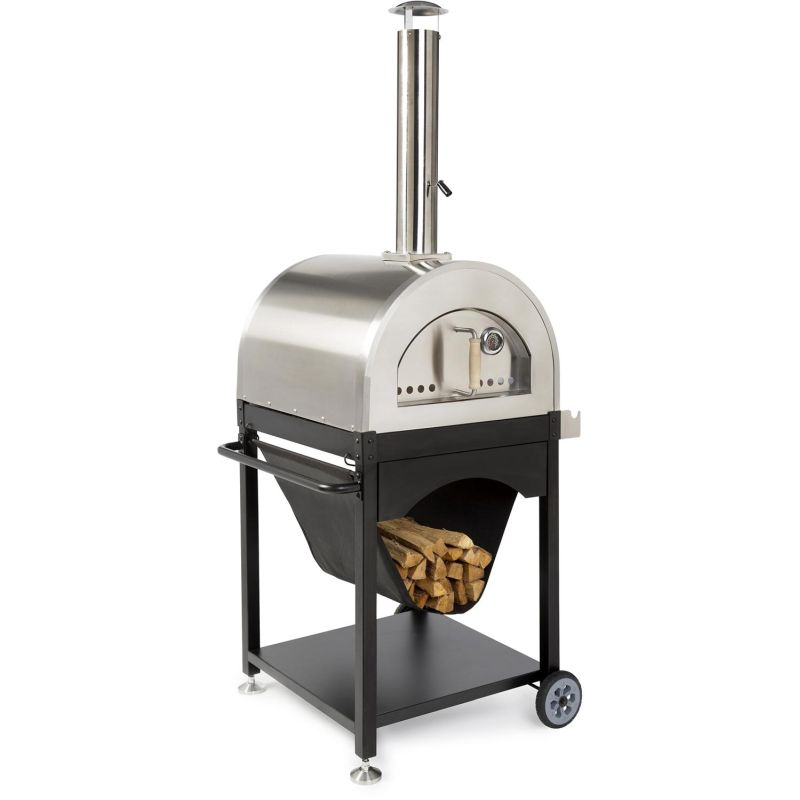 WPPO Pro 4 25-Inch Outdoor Wood-Fired Pizza Oven On Cart