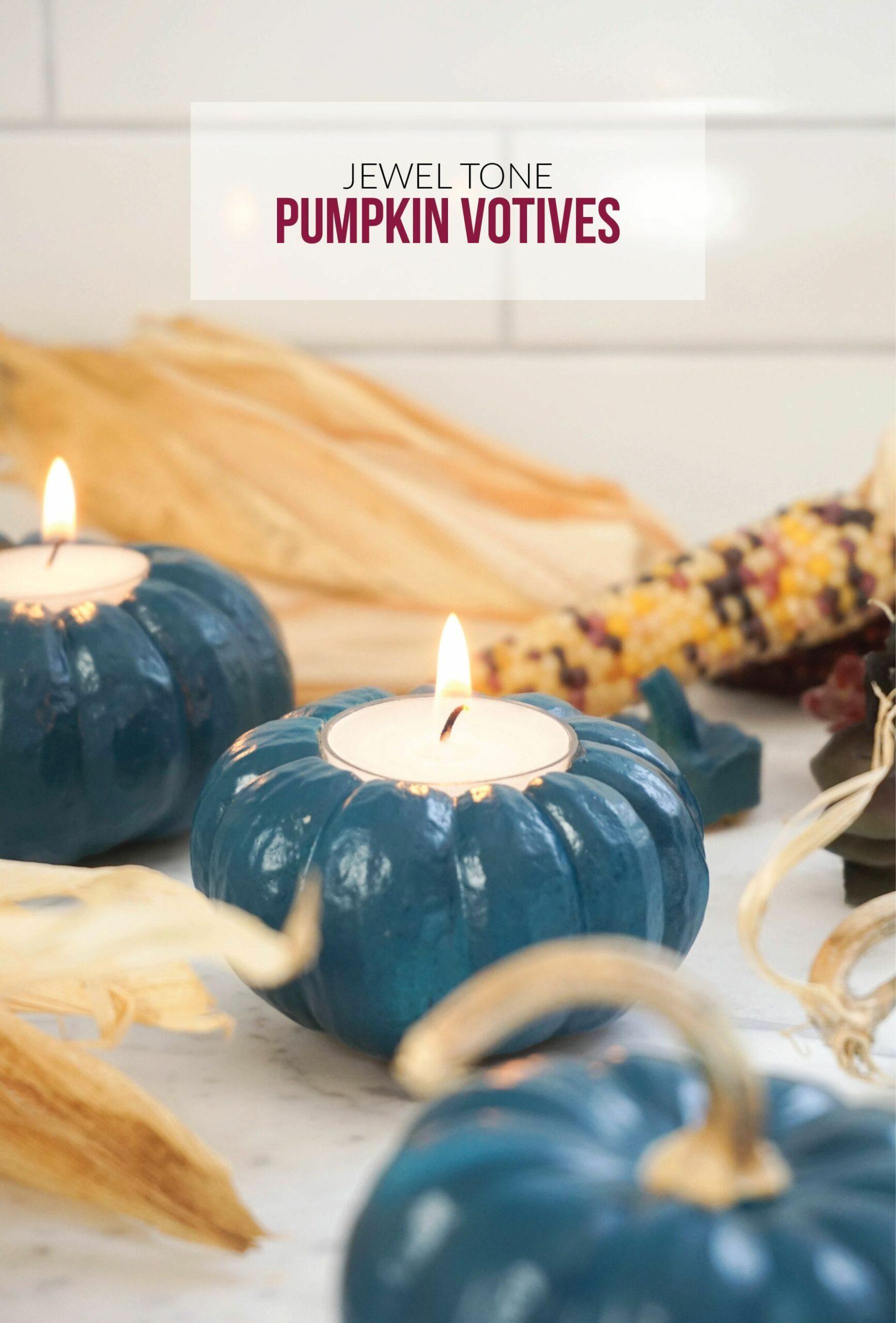 Mini pumpkin votives