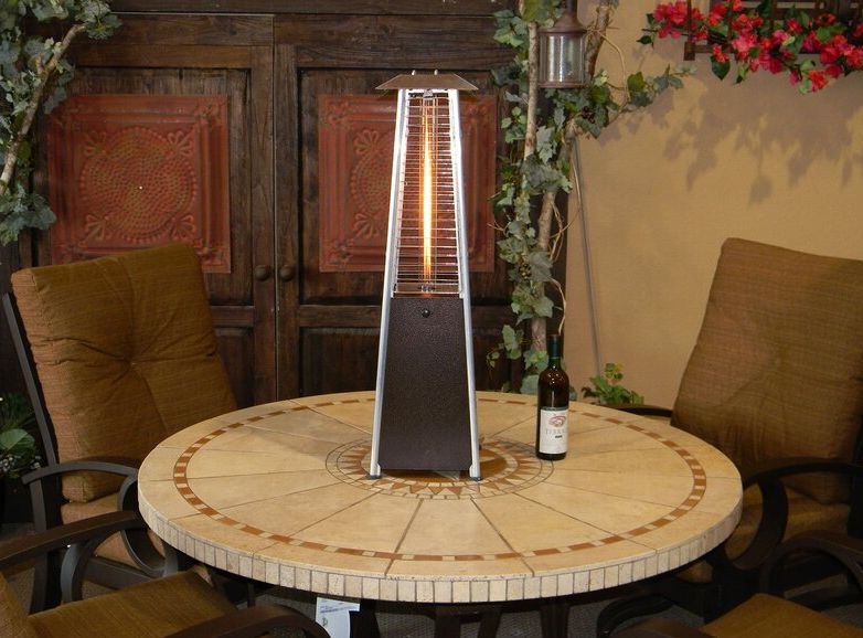 With a Tabletop Patio Heater You'll Never Want to Come Inside