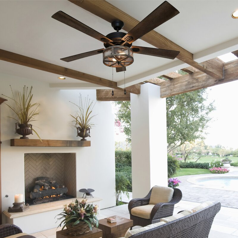 Change Temperature And The Look Of The Space With A Rustic Ceiling Fan