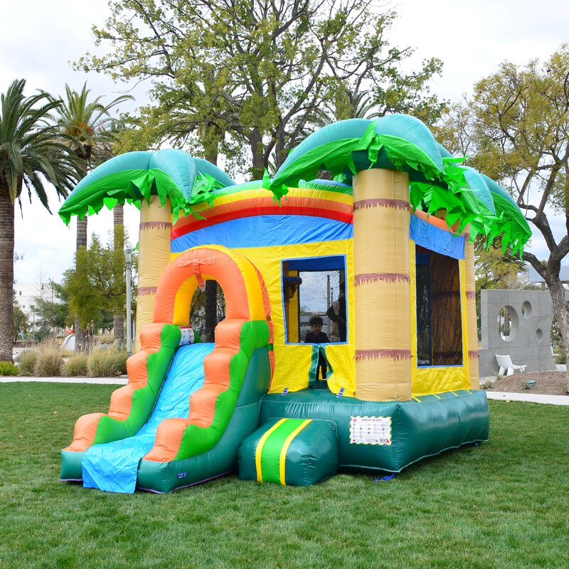 Turn Your Backyard Into Fun Central With an Inflatable Slide