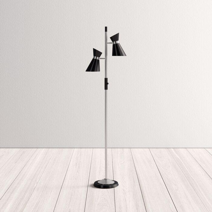 "Bryce 63"" Tree Mid-Century Floor Lamp"