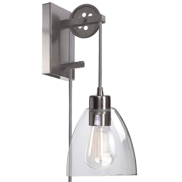 Cyrus 1-Light Plug-In Armed Sconce