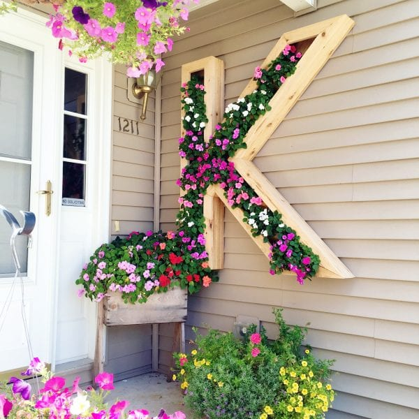 planter box ideas DIY Monogram Planter