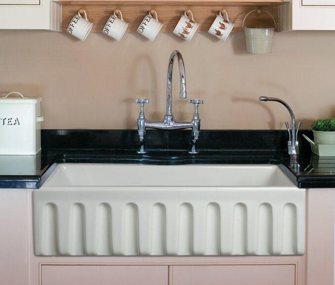 """Alfi 36"""" L x 18"""" W Farmhouse Kitchen Sink"""