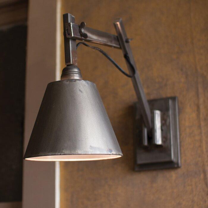 Emmy Studio 1-Light Plug-In Armed Sconce