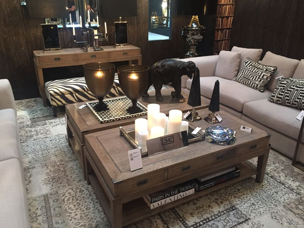 Pair Two Identical Coffee Tables as One