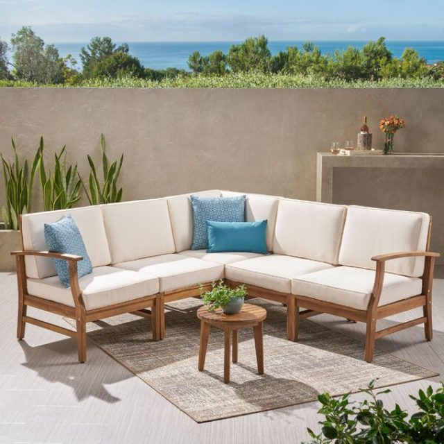 Jalissa 24'' Wide Outdoor Symmetrical Patio Sectional