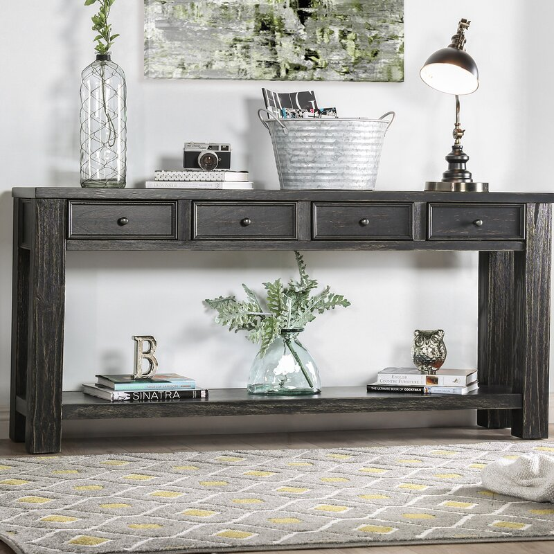 Bring the Rustic Touch from Entryway with a Console Table