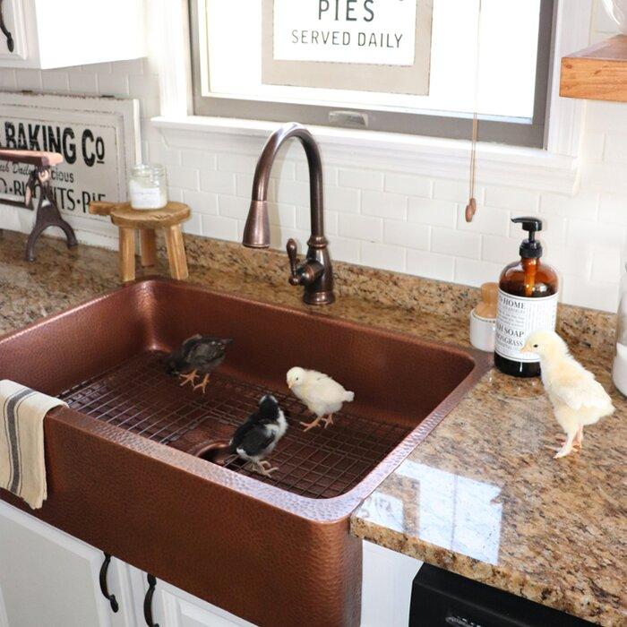 """Lange 32"""" L x 22"""" W Farmhouse Kitchen Sink"""