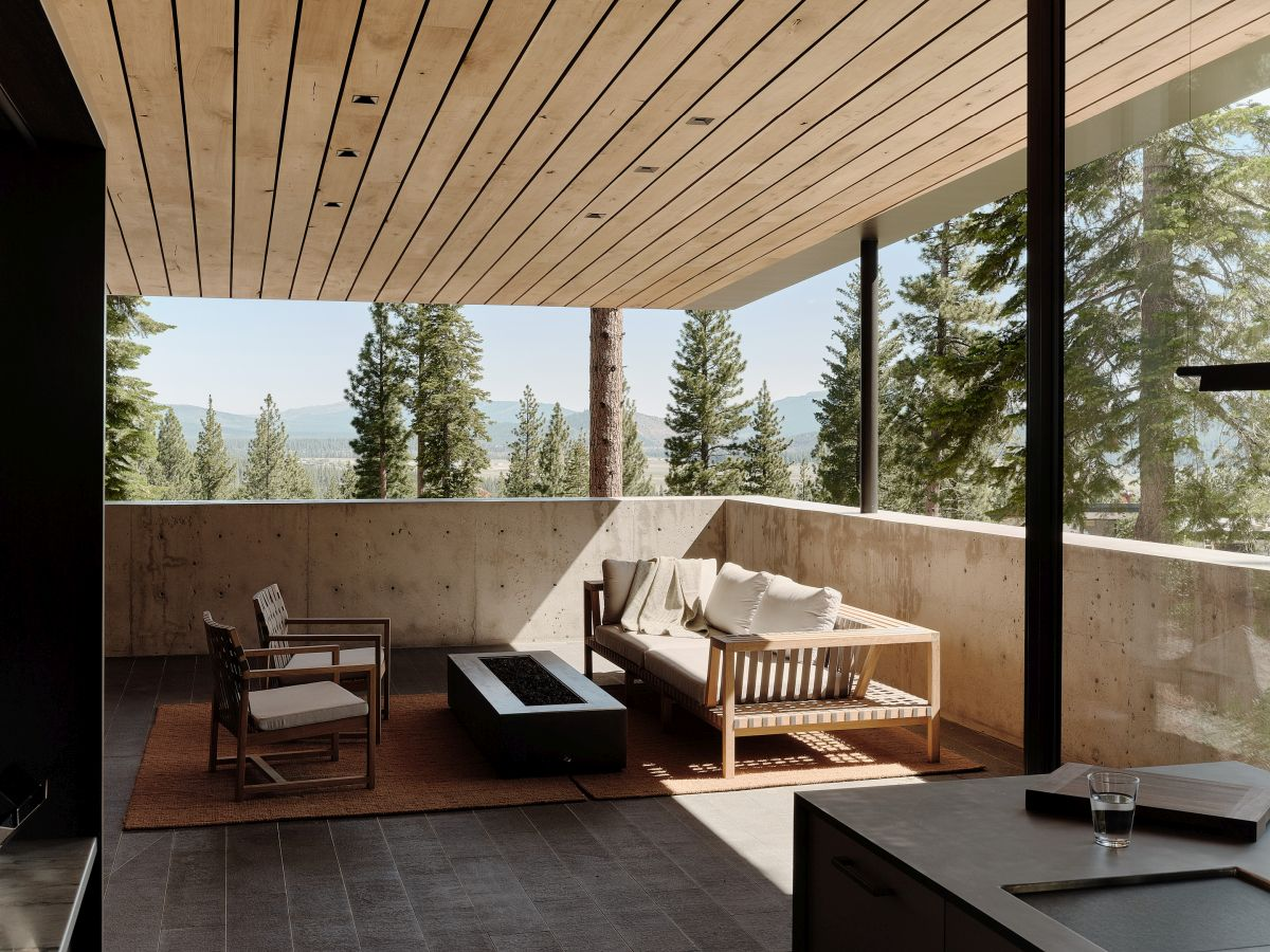 This covered terrace is a wonderful spot to admire the scenery from, relax and unwind or entertain guests