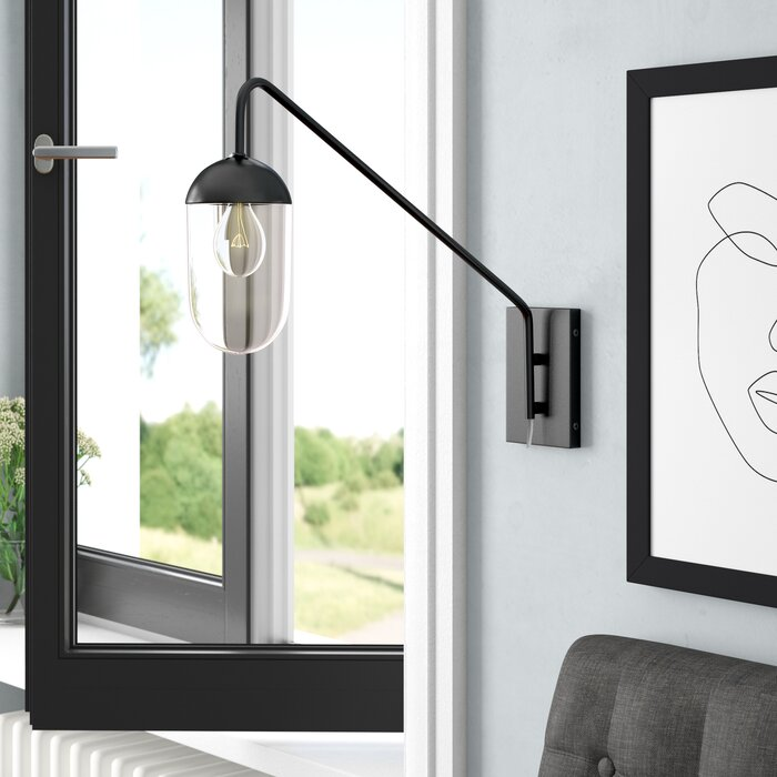 Lower Hounsley 1-Light Plug-In Armed Sconce